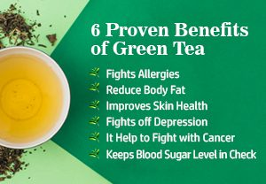 6 Proven Benefits of Green Tea