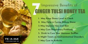 Ginger tulsi honey tea