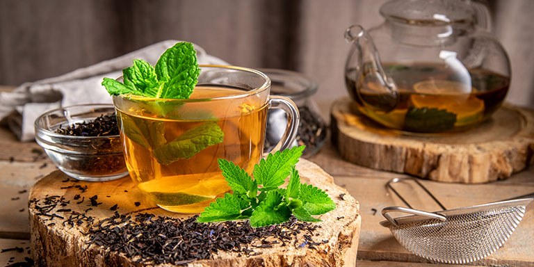 peppermint Tea or infusion