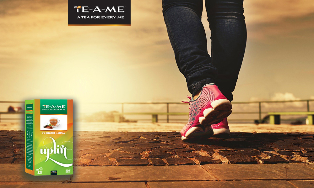 Before a Walk or Exercise with Kashmiri Kahwa Green Tea
