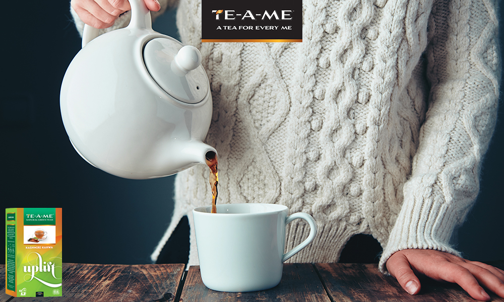 Cold Morning with Kashmiri Kahwa Green Tea
