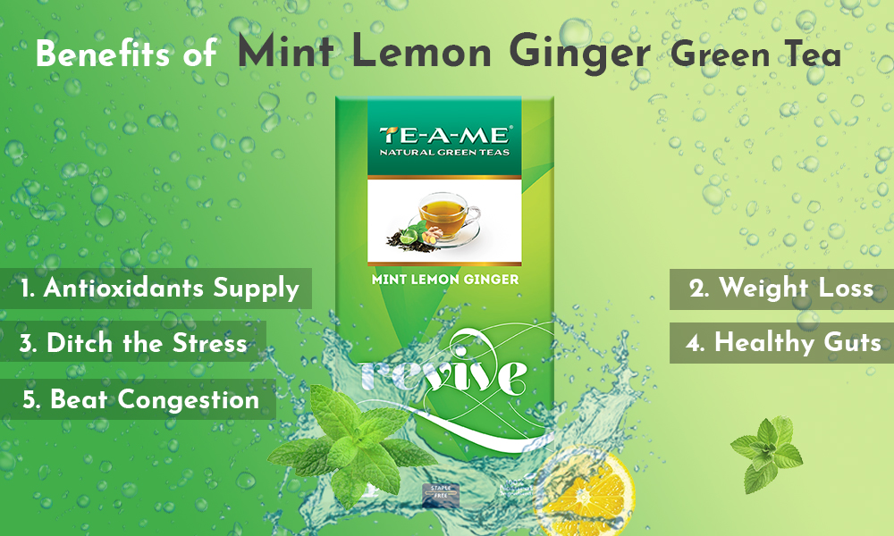 Mint Green tea Benefits