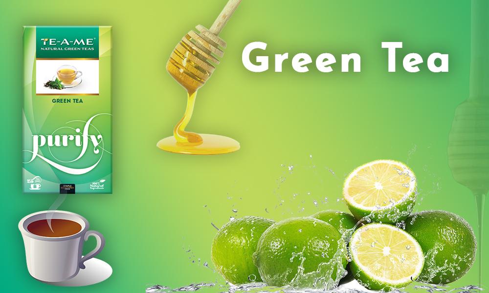 Green Tea with Honey and Lemon